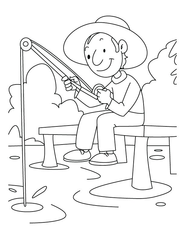 612x792 Ice Fishing Coloring Pages