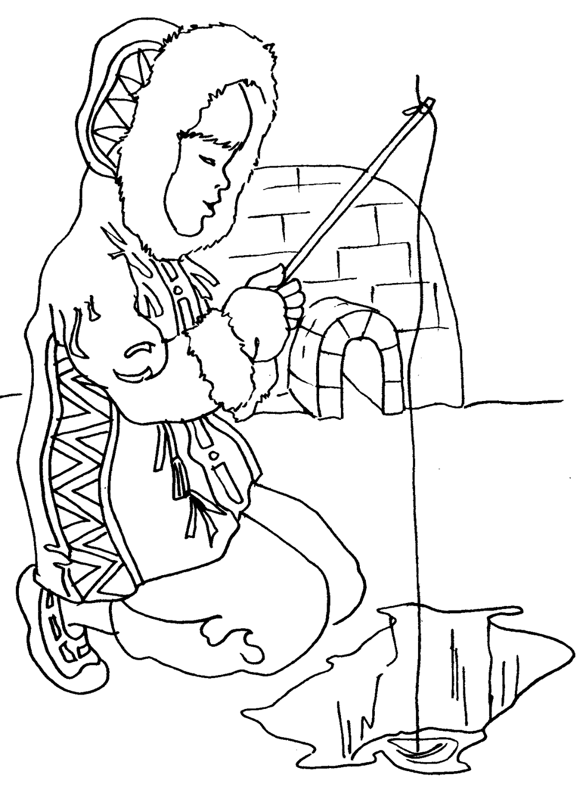 1179x1600 Eskimo Coloring Pages