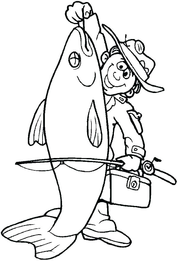 600x887 Fishing Coloring Page Fish Man Fishing Coloring Pages