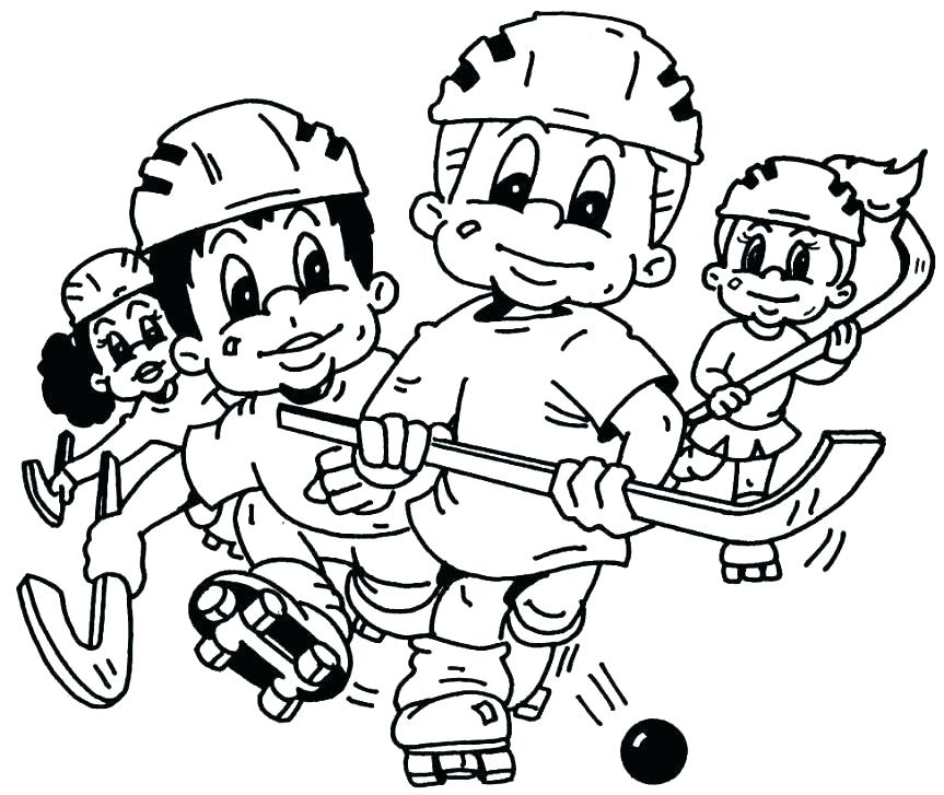 863x727 Hockey Goalie Coloring Pages New Coloring Pages Hockey Free