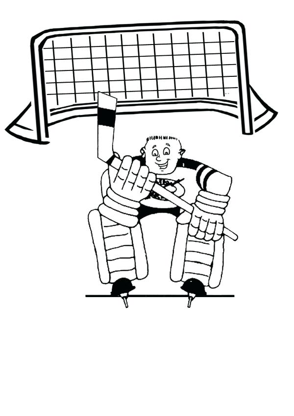 600x850 Hockey Goalie Colouring Page Activities Hockey Goalie Ice Hockey