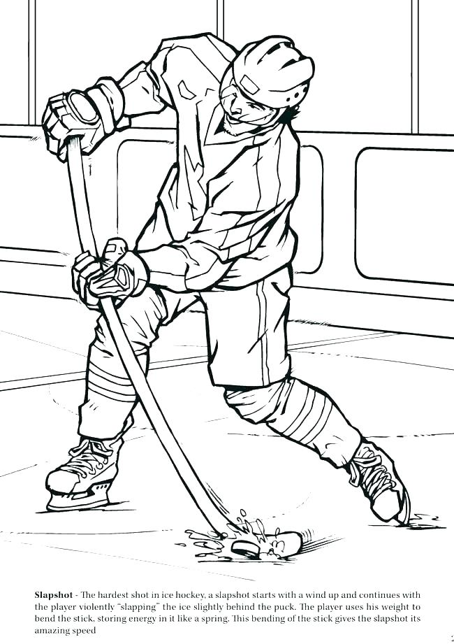 650x921 Hockey Player Coloring Pages Free Goalie Online Pictures Es Ice