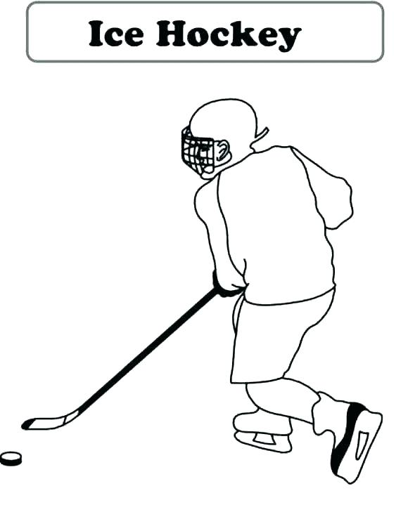 580x729 Nhl Coloring Pages Ice Hockey Coloring Pages Hockey Goalie