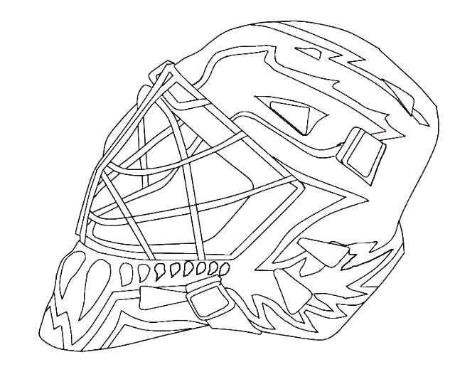 640x516 Nhl Logos Colouring Pages Logo Coloring Hockey Goalie Click To See