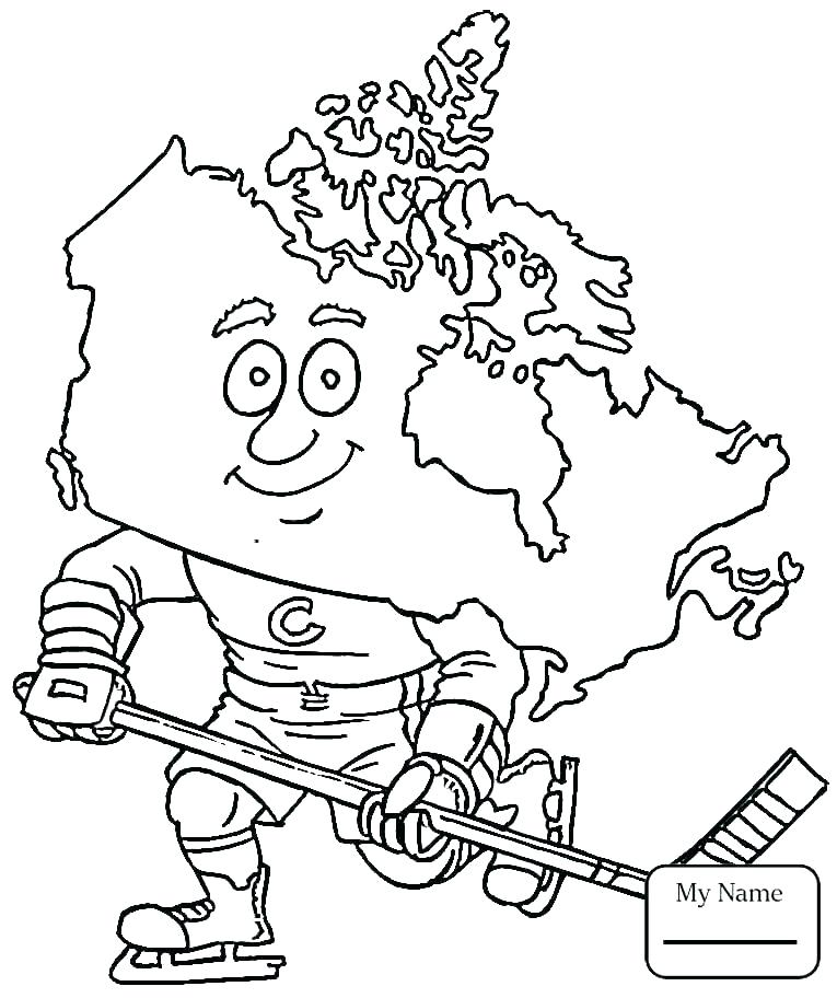 765x912 Hockey Goalie Coloring Pages