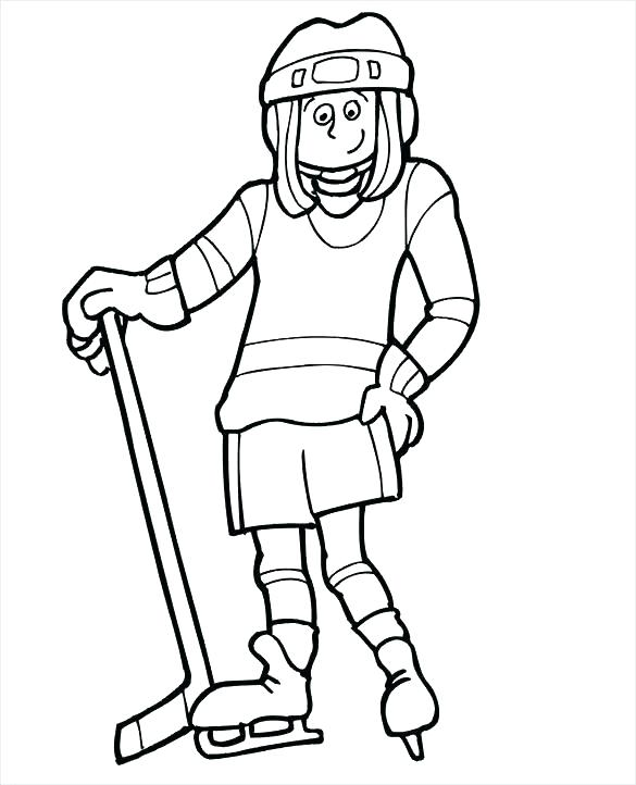 585x722 Hockey Goalie Coloring Pages