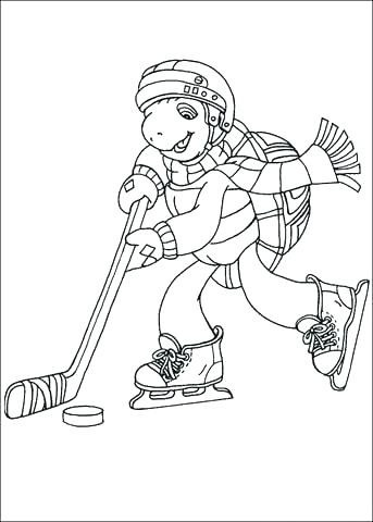 343x480 Hockey Goalie Coloring Pages Coloring Book As Well As Click To See
