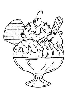 236x333 Ice Cream Coloring Pages With Whipped Cream And Cherry Ice Cream