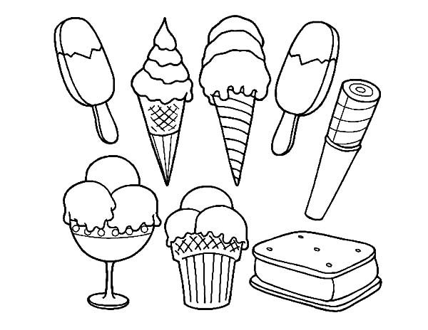 600x464 Popsicle Coloring Page