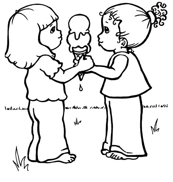572x602 Ice Cream Coloring Pages For Kids Proverbs Colouring