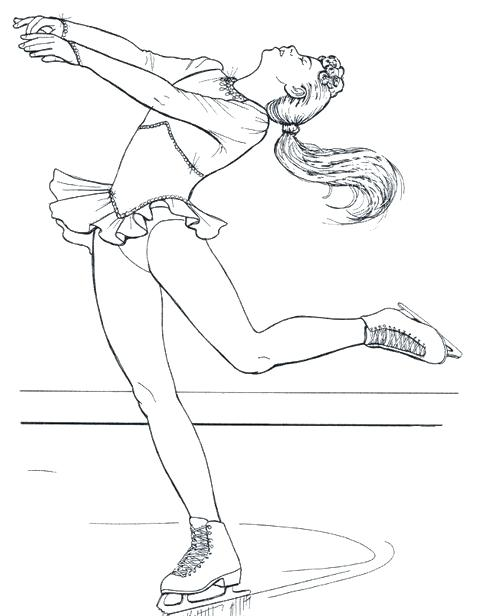 491x616 Dora Ice Skating Coloring Pages Figure Favorite Drawings Fuhrer