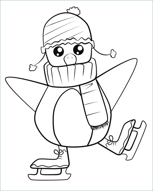 640x800 Girl Skating Winter Coloring Pages