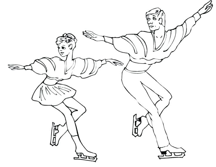 736x568 Winter Sports Coloring Pages Pairs Ice Skating Coloring Page Ice