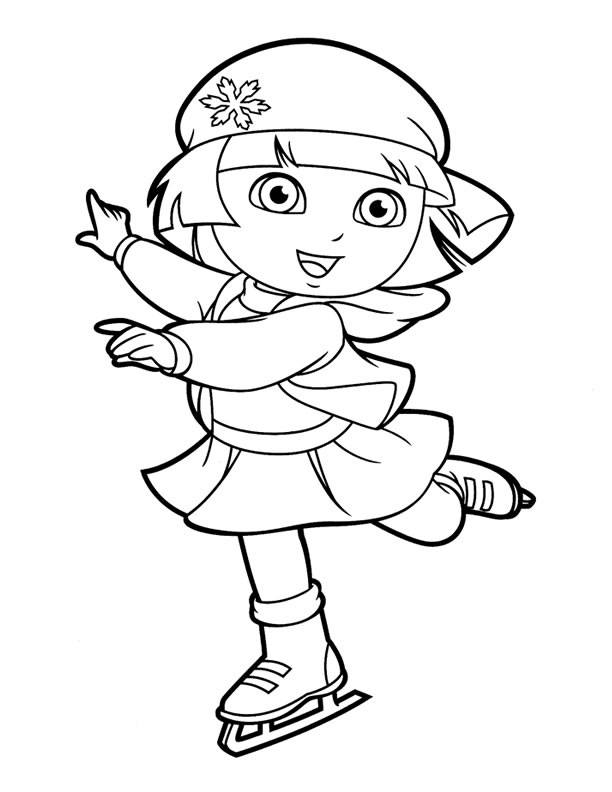 612x792 Dora Coloring Pages Ice