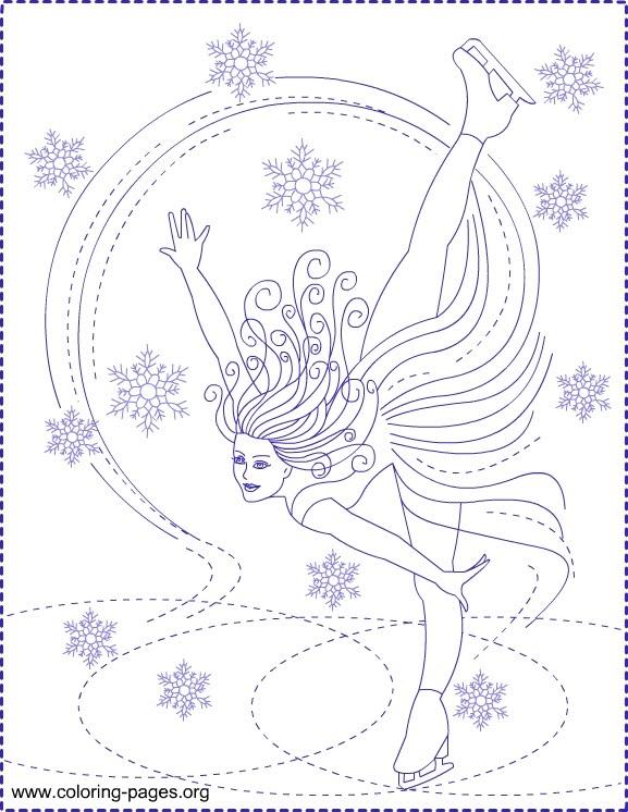 577x746 Ice Skating Coloring Lg