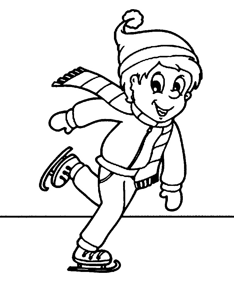 768x924 Best Sports Coloring Pages Ice Skating Coloring Pages
