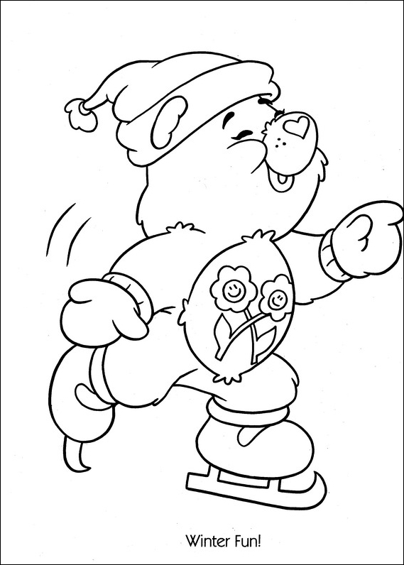 569x796 Care Bears Ice Skating Coloring Page