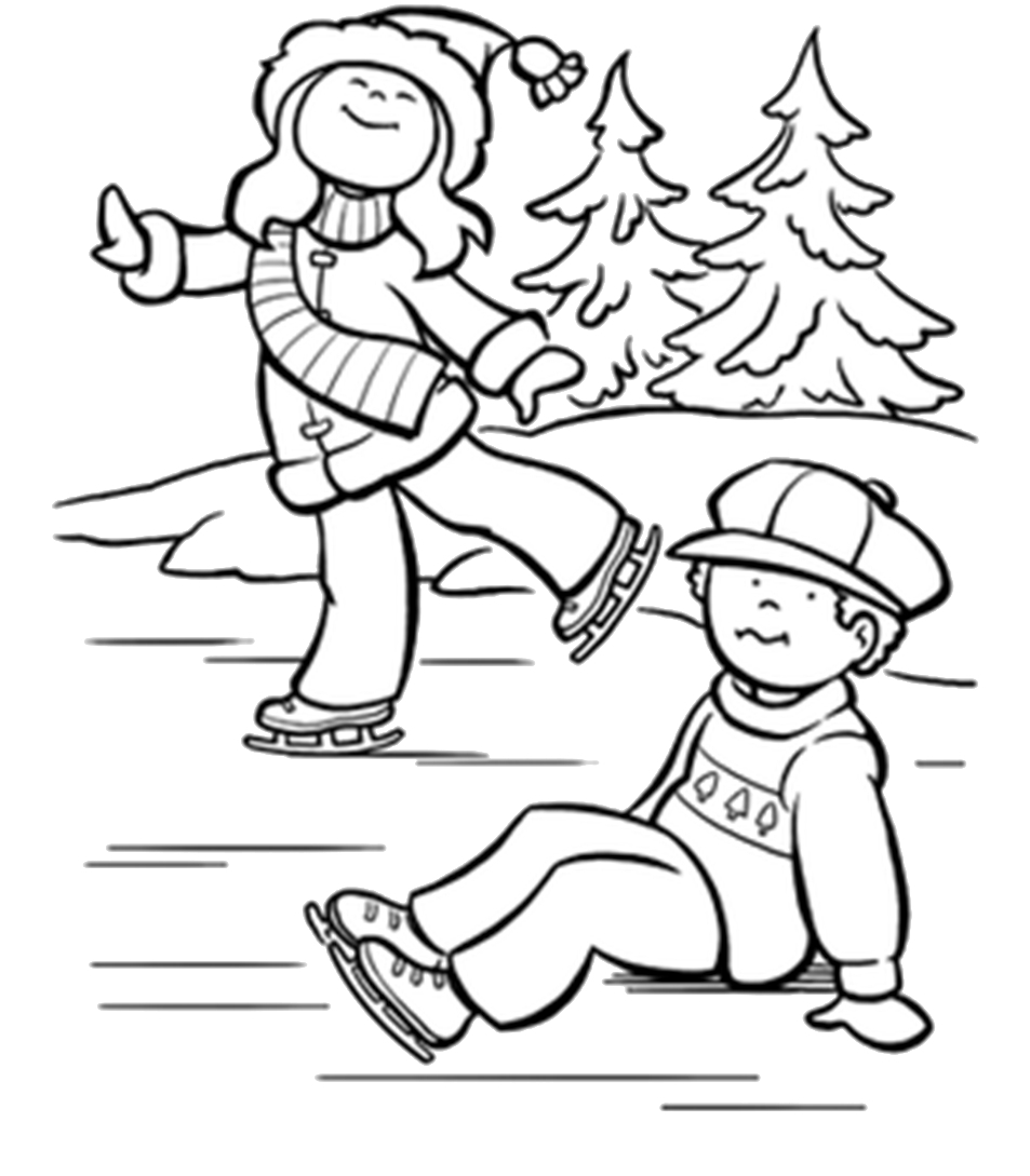 Ice Skating Coloring Pages Printable At Getdrawings Free Download