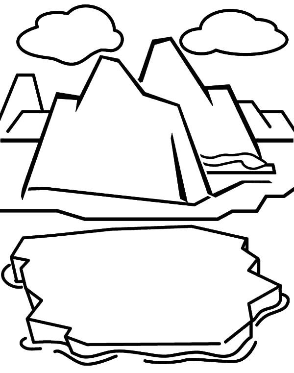 Iceberg Coloring Page