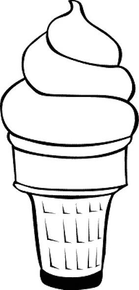 Icecream Cone Coloring Page