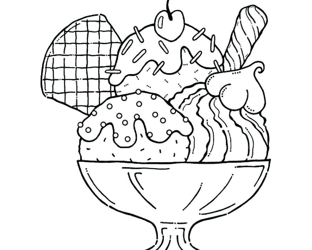 1000x800 Free Coloring Page Ice Cream Cone Copy Coloring Ice Cream Coloring