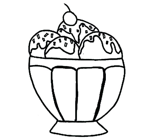 600x570 Ice Cream Cone Color Pages Sundae Coloring Page Printable