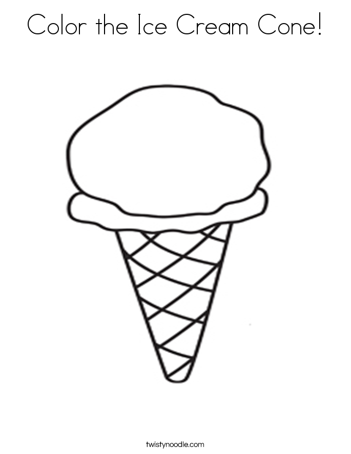 685x886 Ice Cream Cone Coloring Page