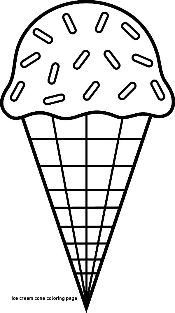 600x1074 Ice Cream Cone Coloring Sheet For Page Prepare For Ice Cream