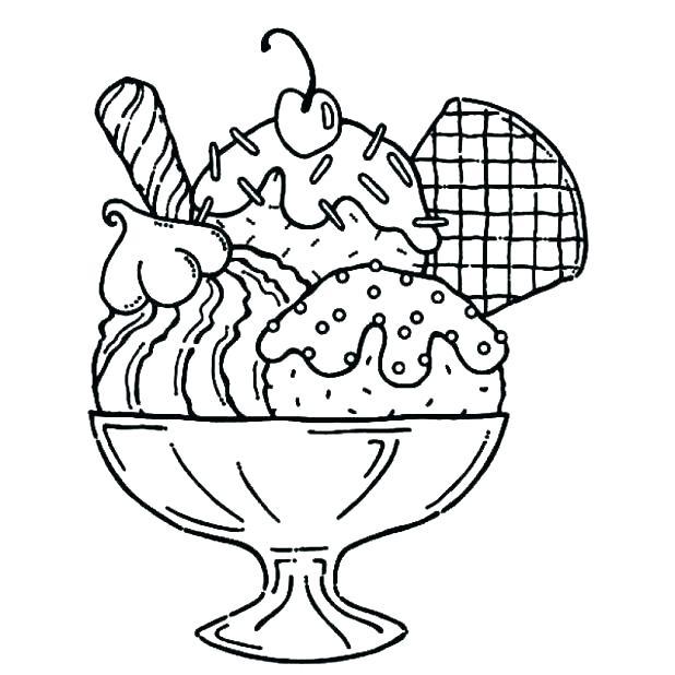 618x618 Ice Cream Sundae Coloring Sheet Ice Cream Cone Coloring Template
