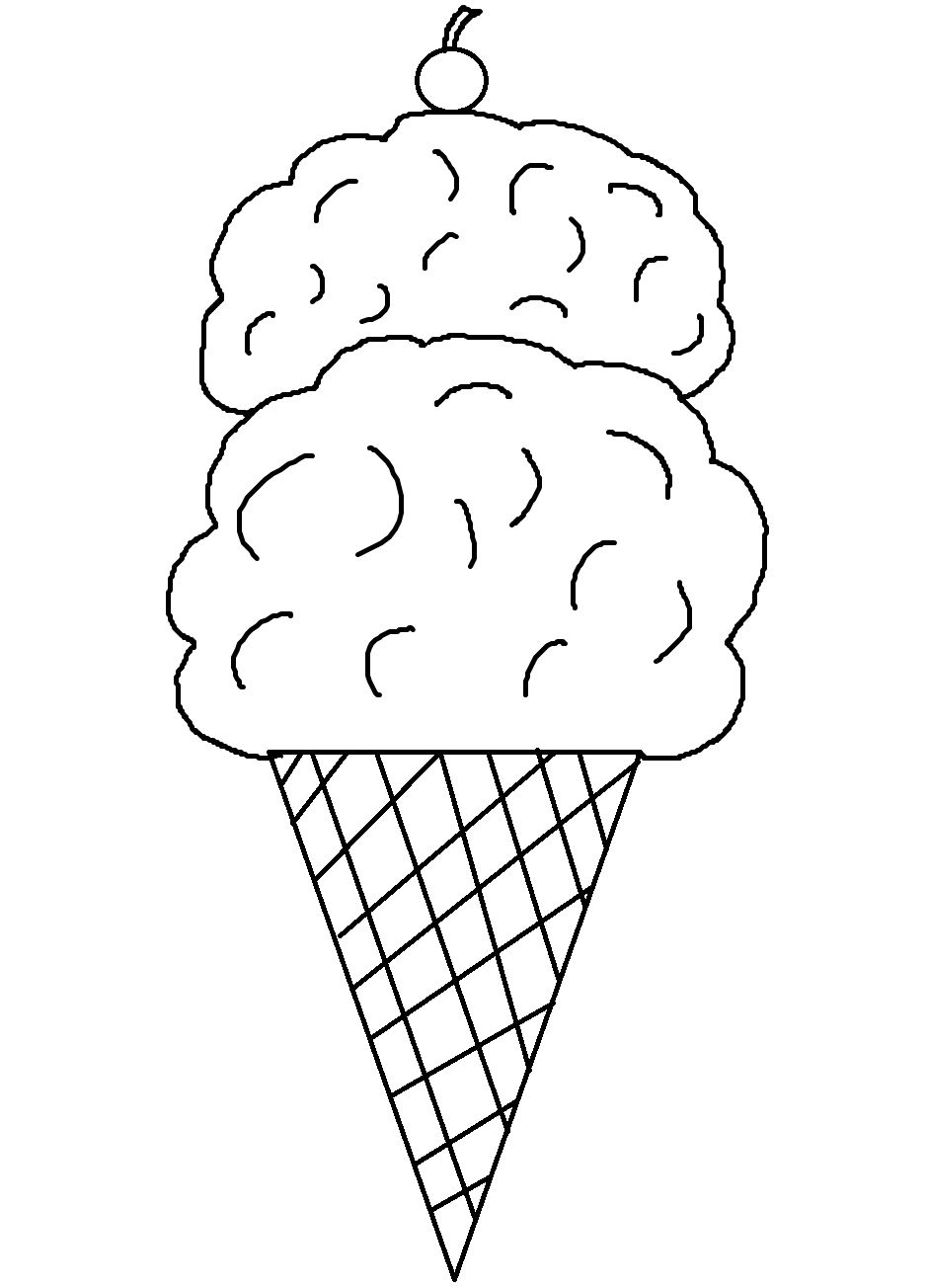 939x1304 On Icecream Cone Coloring Pages
