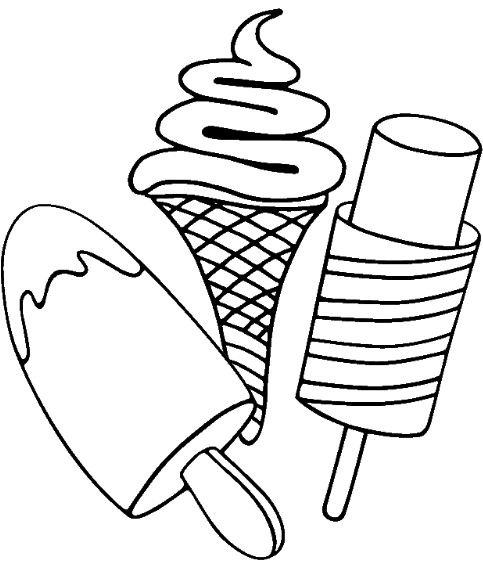 483x573 Ice Cream Cone Coloring Pages Printable Drawing Board Weekly