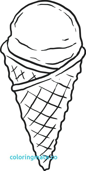 352x700 Ice Cream Scoop Coloring Page