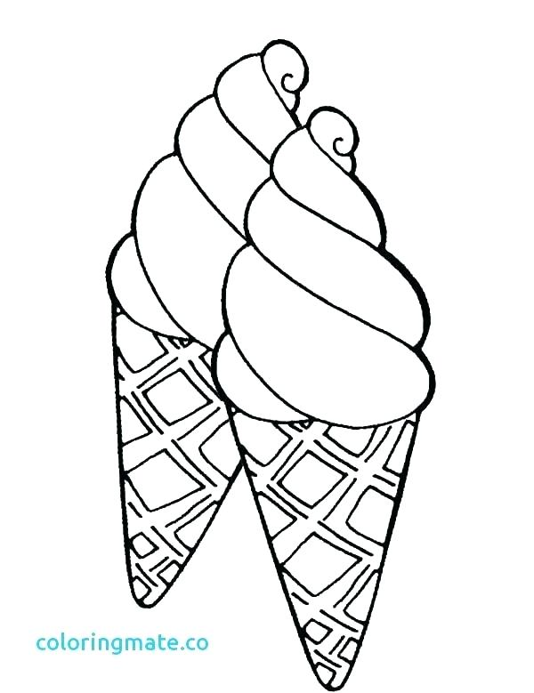 600x779 Coloring Pages Of Ice Cream Cones Coloring Pages Ice Cream Cone