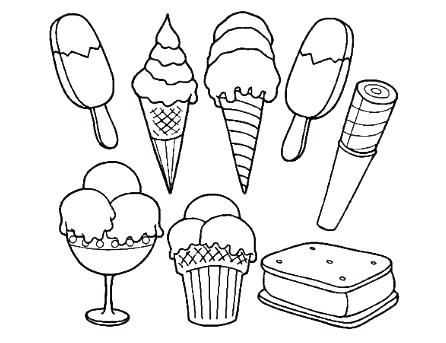 446x343 Empty Ice Cream Cone Coloring Page Colouring Pages