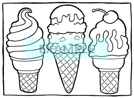 570x418 Empty Ice Cream Cone Coloring Page Pictures Of Free Pages Cupcake