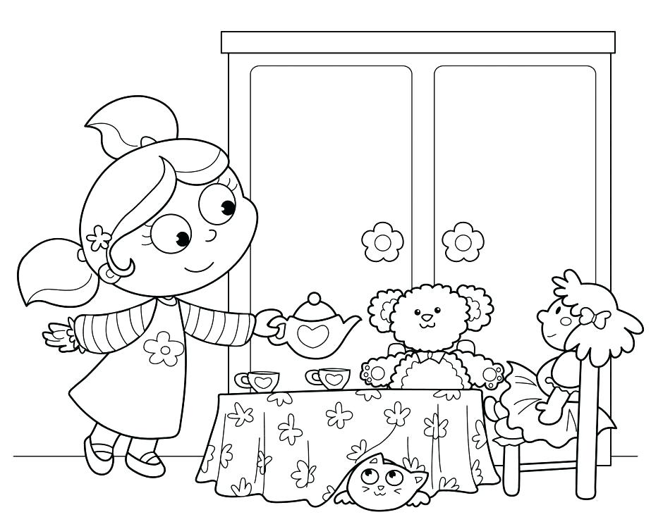940x751 Tea Coloring Pages Tea Party Colouring Pages New Tea Collection