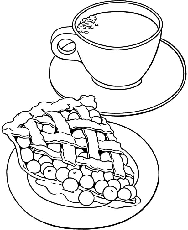 600x734 Tea Cup Coloring Page Beautiful Coffee Coloring Page With Tea Cup