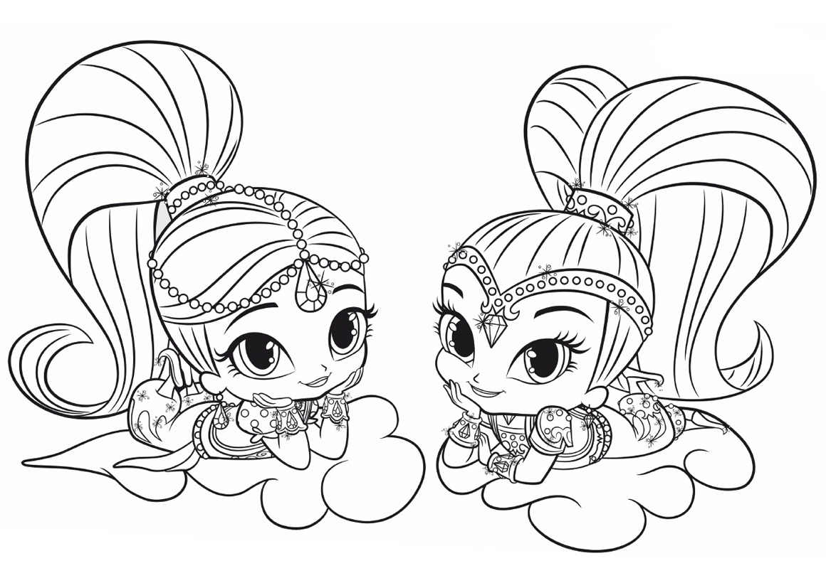1160x820 Surprise Shimmer Shine Coloring Pages And Best