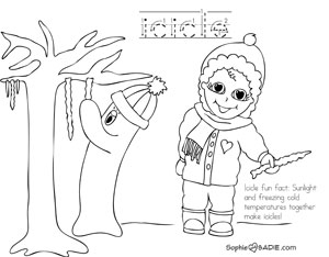 300x234 Coloring Page Icicles! Sophie And Sadie