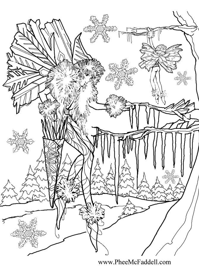 670x900 Hanging Icicles Fantastical Coloring Pages