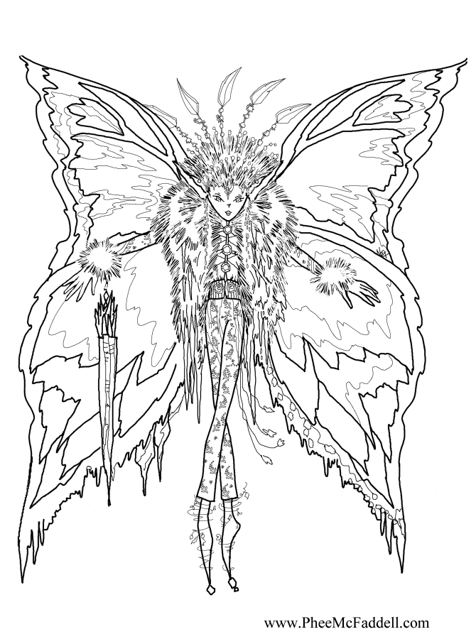670x900 Icicle Fairy Coloring Page