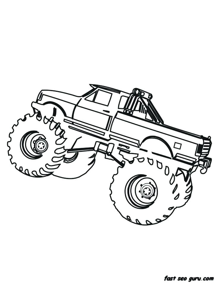 736x952 Monster Truck Coloring Pages For Toddlers As Well As Icicle