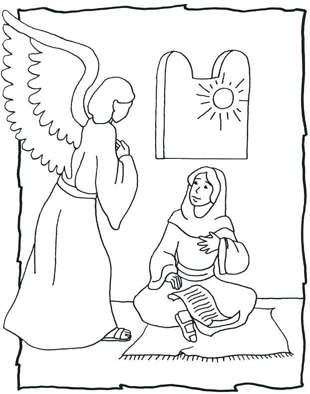 623x791 The Visitation Coloring Page Vanda