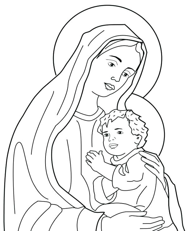 600x740 Holy Family Coloring Page Medium Size Of Coloring Pages Happy