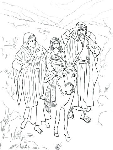 360x480 Holy Family Coloring Pages Holy Family Icon Coloring Page