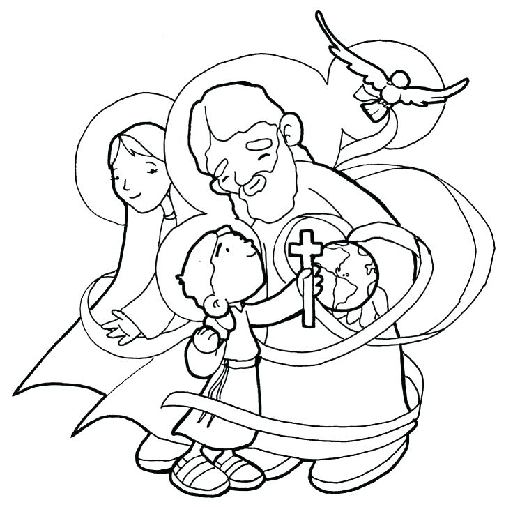 736x727 Holy Family Coloring Pages Holy Trinity Coloring Pages Holy Family