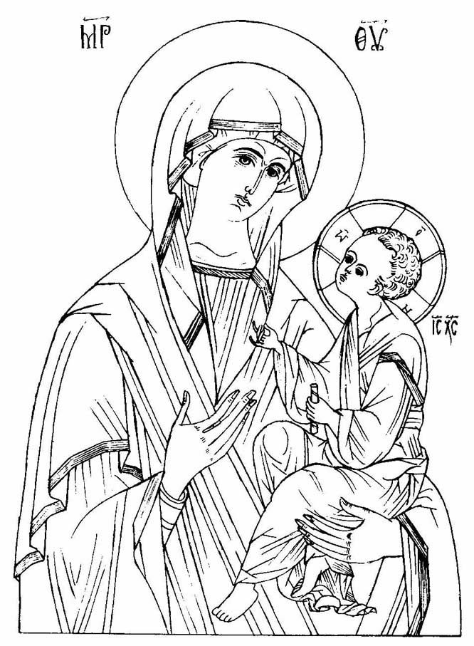 666x907 Byzantine Icon Coloring Pages Coloring Pages Icon Outlines