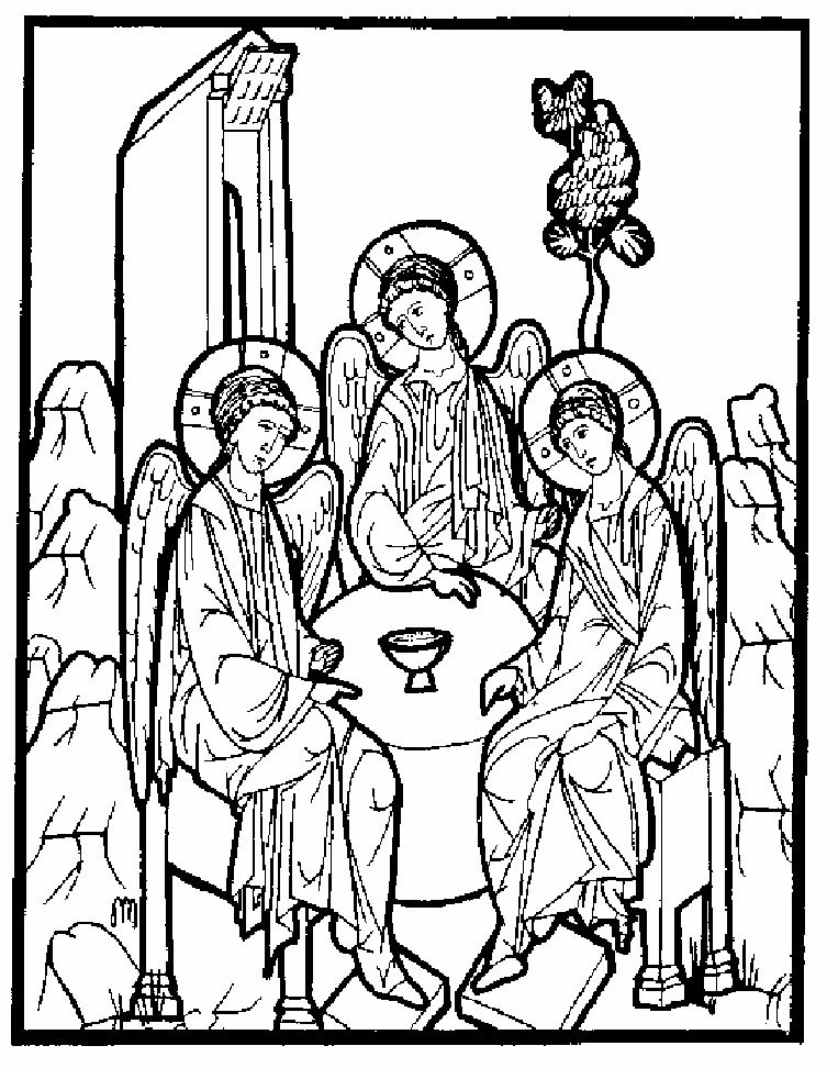 763x972 Orthodox Christian Icon Coloring Book Scribd Iconography