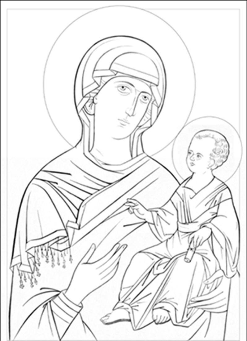 798x1099 Orthodox Icons Coloring Pages Icons