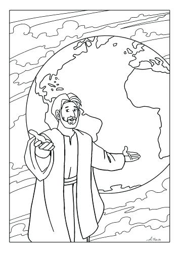 354x500 Pentecost Coloring Page Peter Preaching At Coloring Pages Con